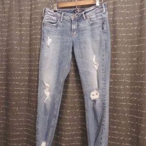Silver jeans Skinny crop Suki